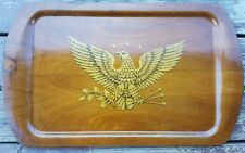 Vintage Wood Serving Tray  US EAGLE Large 15.5 x 25.25 Decorative Hand Made (?)