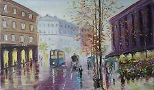 """Landscape.Canvas oil painting.""""Paris"""".Author Sharkadi.N.P.Original.30sm x 50sm."""