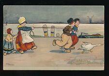 Children artist ETHEL PARKINSON Dutch Children Used 1908 PPC