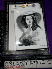 VINTAGE DRESSED WOMAN LACE HAT KEYS 2 FOAM RUBBER STAMPS LABLANCHE #1243 NIP