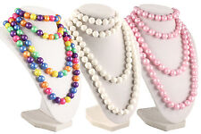 50s Retro Pop Beads Variety Fun Pack - 1 Bag Each Rainbow, Pink, & White Beads