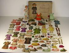 Antike seltene SALA Neue Ankleide Oblaten Puppe in OVP um 1880