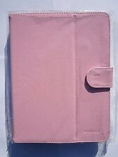 "Pink Multi Angle Leather Case Stand for 8"" Coby Kyros MID8042 Android Tablet"