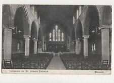 Interior St Johns Church Bognor Vintage Postcard 661a
