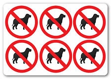 [ 6No | 50x50mm ] NO PETS | health and safety signs