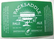 PACKSADDLE PALE ALE Beer Label STICKER, Whitehorse Brewing, Berlin, PENNSYLVANIA