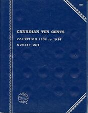 "Whitman Obsolete ""Canadian Ten Cents"" 1858-1936 #1  Coin Folder 9065 New"