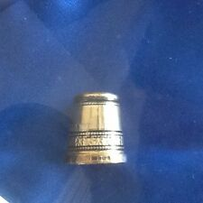 SWANN'S STERLING SILVER-GILT HALLMARKED PEEP THIMBLE -The QUEEN' S 65th BIRTHDAY