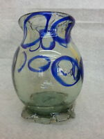 BEAUTIFUL MURANO ART GLASS BLUE BUBBLE VASE BAROVIER VENINI ??
