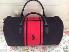 ⭐️RALPH LAUREN⭐Black and Red Weekend Gym Sports Holdall Holdal Bag⭐️