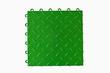 GREEN Garage Floor Tiles -  Made In USA - FREE SHIPPING - Diamond plate