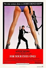 James Bond: * For Your Eyes Only * Roger Moore USA  Movie Poster 1981