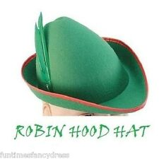 Felt Robin Hood Peter Pan Elf Hat Medieval Hat German Bavarian Fancy Dress BA