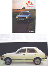 Toyota Starlet 1.0 1.2 GL S 1980-82 Original UK Sales Brochure Pub. No. 90261