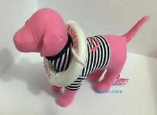 NWT Victoria's Secret MINI LIFE STRIPE SAILOR PINK Dog RARE Collector Item SS