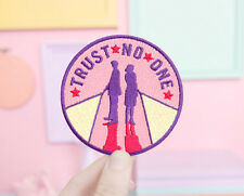 The X-Files Trust No One Patch DIY Sew Iron On Badge Embroidered Sewing Applique