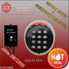 ARA Wireless Keypad Entry, Garage Door and Gate Motor Frequency Receiver,433 Mhz