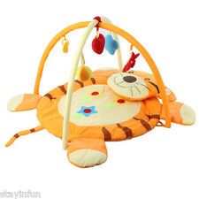 Baby Soft Play Mat Gym Blanket Fitness Frame Crawling Toy Tiger Pattern