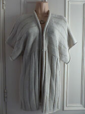 Sandwich size S beige medium knit cardigan with no fastenings short sleeves