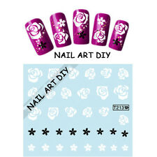 Adesivi Neri e Bianchi-Nail Art Stickers-Decals water transfer-Buy 3 Get 4 !!