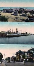 3 unused Hull old postcards (A) Pier Quay Spring Bank from same series Good