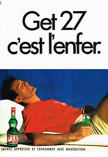 PUBLICITE  1985   GET 27   pippermint c'est l' enfer