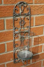 French Wall Sconce Candle Holder Antique Vintage Style Indoor Garden Shabby Chic