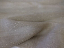Brown/Grey Slubbed Elegant & Soft Wool & Viscose Scarf/Dress Fabric. (Sheer)