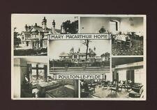 Lancashire Lancs POULTON-LE-FYLDE Mary Macarthur Home advert M/view 1959 RP PPC