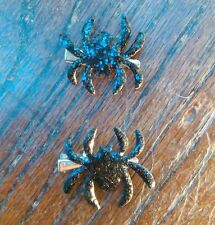 Spider Hair Clips - Halloween - Glitter Sparkly