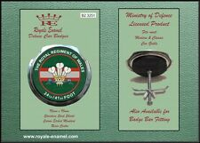 Royale Classic Car Grill Badge + Fittings ROYAL REGIMENT OF WALES 24/41- B2.3251