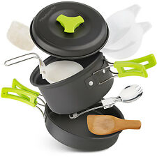 Non-stick camping cookware Equipme set outdoor backpacking mess kit gear