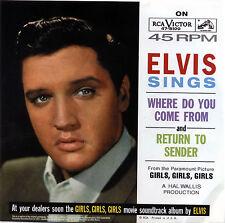 """ELVIS PRESLEY  """"RETURN TO SENDER""""     R&R    RED VINYL    LISTEN"""