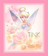 "TINKERBELL PIXIE FAIRY ALL STARS IN THE SKY  35"" DISNEY WALLHANGING FABRIC PANEL"