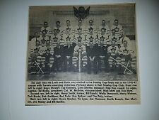 Toronto Maple Leafs 1946-47 Team Picture Conn Smythe Syl Apps Bill Eziniki