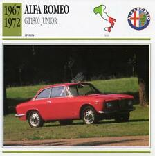 1967-1972 ALFA ROMEO GT1300 Junior Sports Classic Car Photo/Info Maxi Card