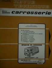 Revue technique CARROSSERIE PEUGEOT J7 1973 + CG CHAPPE et GESSALIN ( 4 pages )