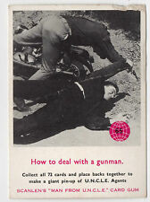 Scanlens Australia The Man From Uncle original 1960s trading card #65