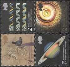 Gb 1999 millennium/science/planets / astronomy/bird/nature / dna/medical 4v (n33565)