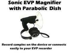 SONIC EVP PARABOLIC DISH AUDIO MAGNIFIER  - GHOST HUNTING EQUIPMENT