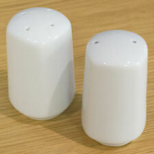 Milan Porcelain Salt And Pepper Spice Pots Two White Grinders Mill Sets Shakers