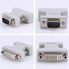 DVI-I Female Analog 24+5 to VGA Male(15-pin) Connector Video Monitor Adapter