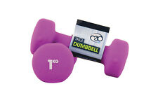 Fitness Mad Strength Neoprene Dumbbells for Aerobic & Fitness Training 2 x 1kg
