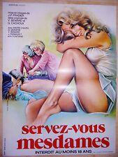 SERVEZ-VOUS MESDAMES    !  affiche cinema vintage erotique