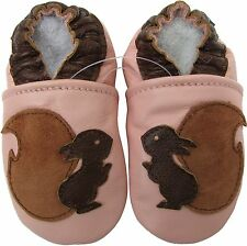 carozoo squirrel pink 12-18m soft sole leather baby shoes