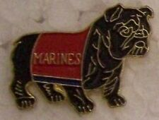 Hat Lapel Push Tie Tac Pin USMC Bulldog cutout NEW red