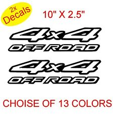4x4 OFF ROAD Vinyl Stickers Decals Graphics x2  (Design 2)  13 colors to choose