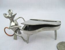 Pewter Mouse Mice Rat Miniature Copper Tail Piano Figurine Orchestra #7 (2 PCS)