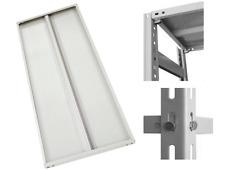Ripiani piani per scaffali scaffalature in lamiera d'acciaio grigio cm 90x30