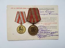 ORIGINAL USSR MEDAL FOR 30 YEARS OF SOVIET ARMY AND FLEET + DOCUMENT (JUBILEE)